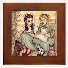 Dorothy and Alice Framed Tile