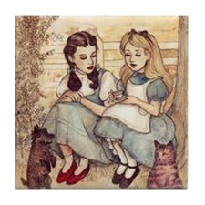 Dorothy and Alice Tile Coaster