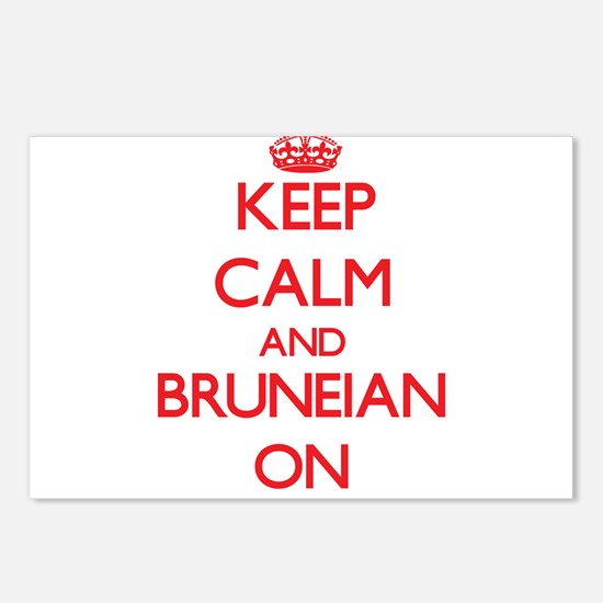Keep Calm and Bruneian ON Postcards (Package of 8)
