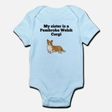 My Sister Is A Pembroke Welsh Corgi Body Suit