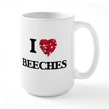 I Love Beeches Mugs