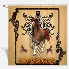 Awesome horse Shower Curtain