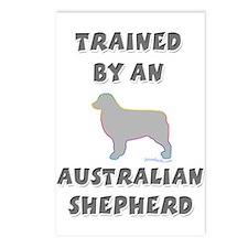 Aussie Shepherd Slvr Postcards (Package of 8)