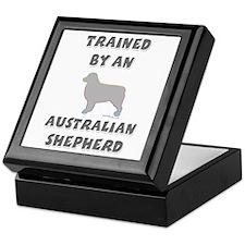 Aussie Shepherd Slvr Keepsake Box