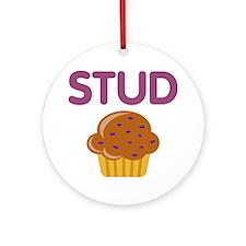 Stud Muffin Ornament (round)