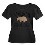 Team Wombat Women's Plus Size Scoop Neck Dark Tee