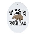Team Wombat Oval Ornament