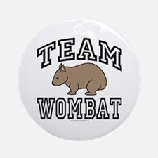 Team Wombat Ornament (Round)