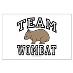 Team Wombat Poster - Large (32 by 23 inches)