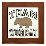 Team Wombat Framed Tile