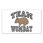 Team Wombat Rectangle Sticker