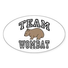 Team Wombat Oval Decal