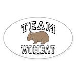 Team Wombat Oval Sticker