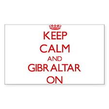 Keep Calm and Gibraltar ON Decal