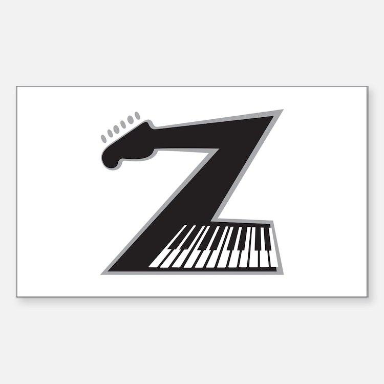 Z Guitar Piano Decal