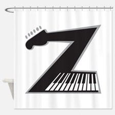Z Guitar Piano Shower Curtain