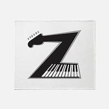 Z Guitar Piano Throw Blanket