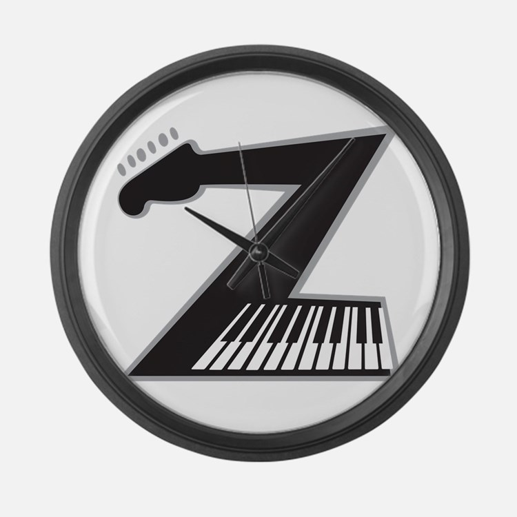 Z Guitar Piano Large Wall Clock
