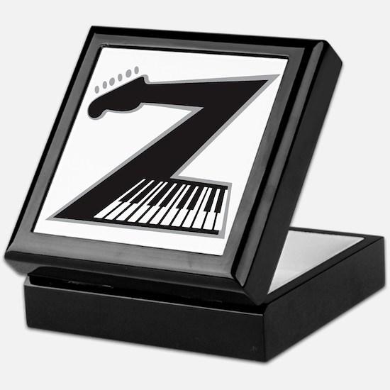 Z Guitar Piano Keepsake Box