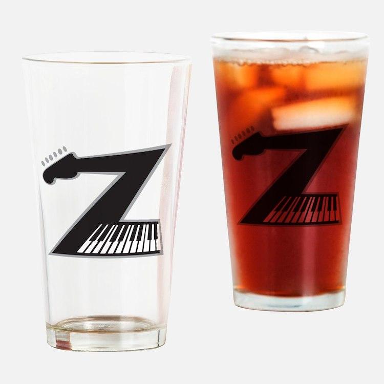Z Guitar Piano Drinking Glass