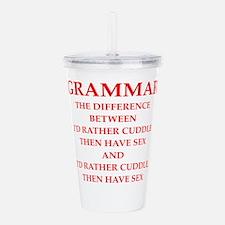 grammar Acrylic Double-wall Tumbler