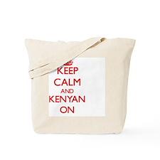 Keep Calm and Kenyan ON Tote Bag