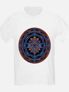 Lakshmi Yantra Mandala- Lapis T-Shirt