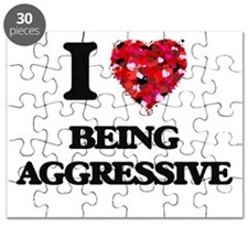 I Love Being Aggressive Puzzle