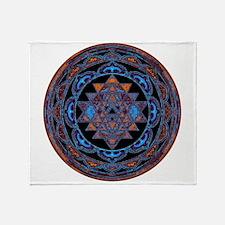 Lakshmi Yantra Mandala- Lapis Throw Blanket