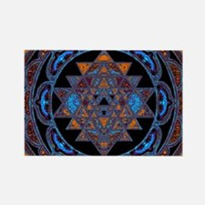Lakshmi Yantra Mandala- Lapis Magnets