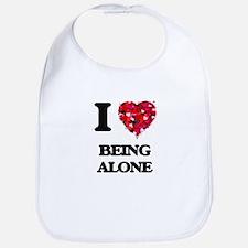 I Love Being Alone Bib
