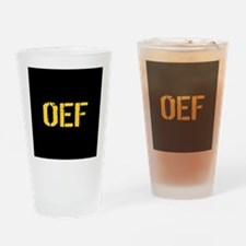 U.S. Military: OEF (Operation Endur Drinking Glass