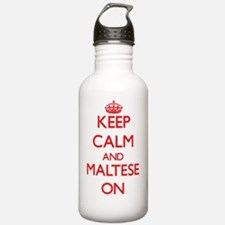 Keep Calm and Maltese Water Bottle