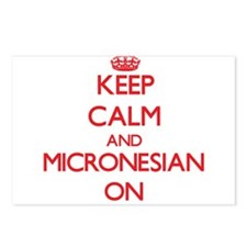 Keep Calm and Micronesian Postcards (Package of 8)