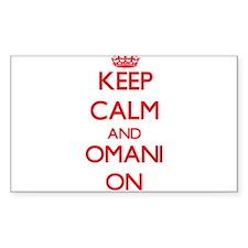 Keep Calm and Omani ON Decal