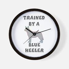 Blue Heeler Slvr Wall Clock