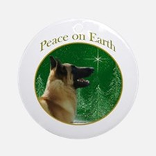 Malinois Peace Ornament (Round)