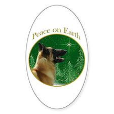 Malinois Peace Oval Decal