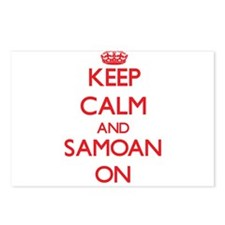 Keep Calm and Samoan ON Postcards (Package of 8)