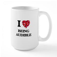 I Love Being Audible Mugs