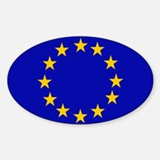 Square European Union Flag Decal