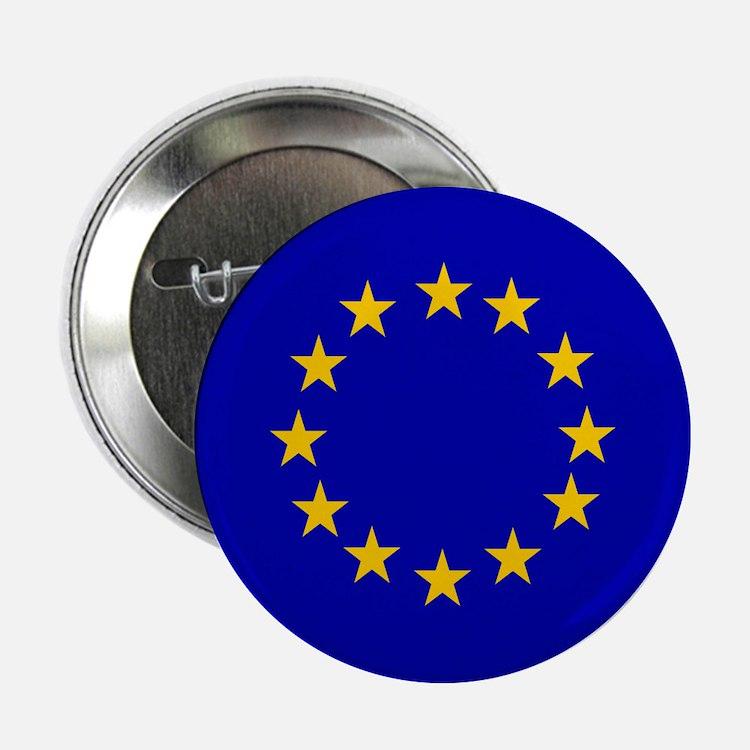 """Square European Union Flag 2.25"""" Button"""