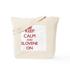 Keep Calm and Slovene ON Tote Bag
