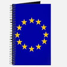 Square European Union Flag Journal