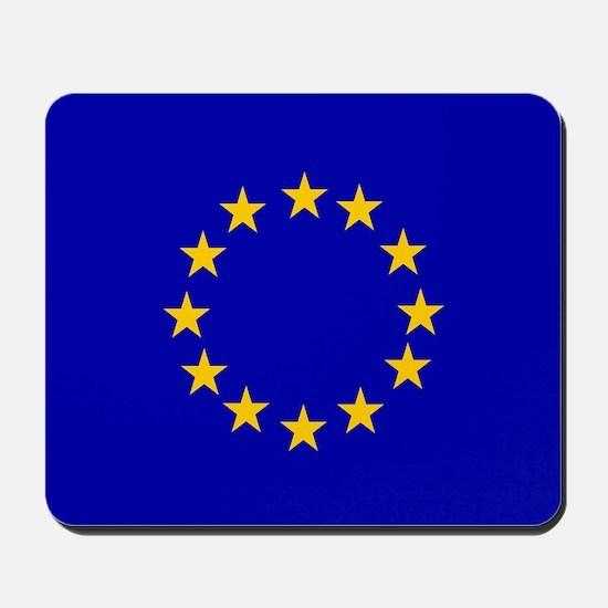 Square European Union Flag Mousepad