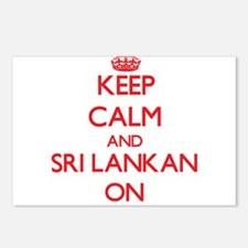 Keep Calm and Sri Lankan Postcards (Package of 8)