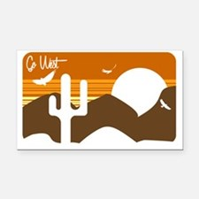 Go West Rectangle Car Magnet