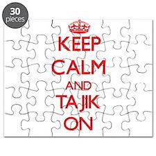 Keep Calm and Tajik ON Puzzle