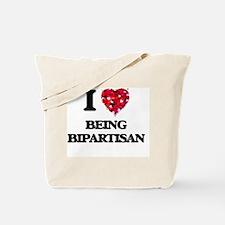 I Love Being Bipartisan Tote Bag