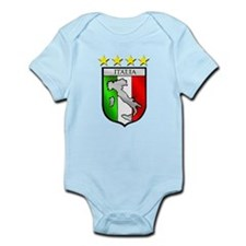 Italy flag emblem coat of arms Map Crest Body Suit